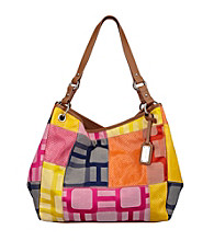 Nine West® Cobalt Multi Vegas Signs Patchwork Large Open Tote