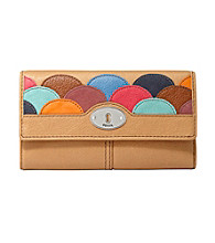 Fossil® Camel Marlow Applique Flap Clutch