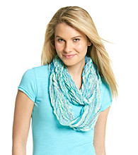 Collection 18 Blue Shock Chevron Pleat Slub Loop Scarf