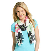 Collection 18 Black Bright Lightweight Tropical Neckwrap