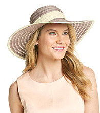 August Accessories® Large Ribbon And Straw Floppy Hat