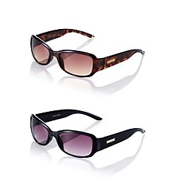 Nine West® Small Plastic Rectangle Sunglasses