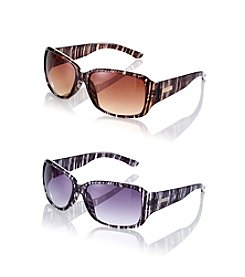 Nine West® Mod Plastic Square Sunglasses