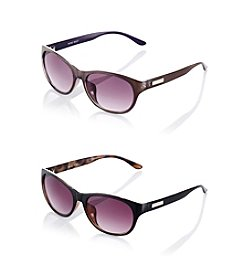 Nine West® Mod Retro Square Sunglasses