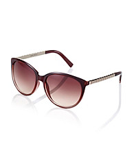 Nine West® Red Gradient Plastic Cat Eye Frame with Metal Temples Sunglasses