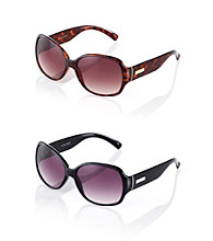 Nine West® Large Plastic Square Frame Sunglasses