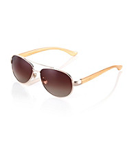 Nine West® Gold Aviator Sunglasses