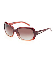 Nine West® Cranberry Plastic Rectangle Sunglasses