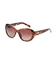 Nine West® Tortoise Plastic Cat Eye Sunglasses