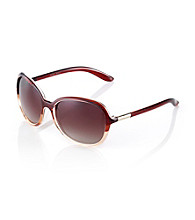 Nine West® Brown Plastic Butterfly Frame with Metal Detail Sunglasses