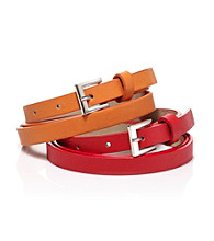 Nine West® Red/Orange Smooth Leather Duo