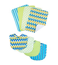 Trend Lab 8-pc. Levi Bib and Burp Cloth Set