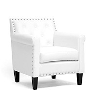Baxton Studios Thalassa White Modern Arm Chair