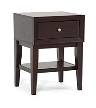 Baxton Studios Gaston Brown Modern Accent Table/Nightstand