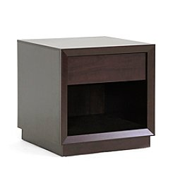 Baxton Studios Girvin Brown Modern Accent Table/Nightstand