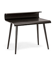Baxton Studios Atlas Dark Brown Wood Modern Desk with Curved Top