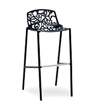 Baxton Studios Demeter Black Metal Modern Bar Stool