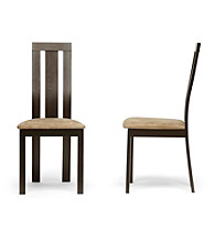Baxton Studios Verona Set of 2 Dark Brown Modern Dining Chairs