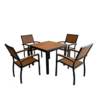 W. Designs Black 5-Piece All-Weather Outdoor Dining Set