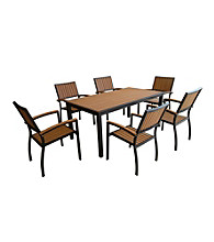 W. Designs Black 7-Piece All-Weather Outdoor Dining Set