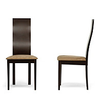 Baxton Studios Geneva Set of 2 Dark Brown Modern Dining Chairs