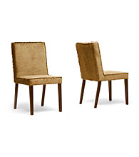 Baxton Studios Cuba Set of 2 Microfiber Modern Dining Chairs