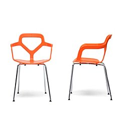 Baxton Studios Miami Set of 2 Plastic Modern Dining Chairs