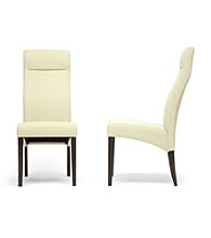Baxton Studios Deborah Set of 2 Modern Dining Chairs