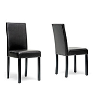Baxton Studios Torino Set of 2 Dark Brown Modern Dining Chairs