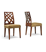 Baxton Studios Marla Set of 2 Microfiber Modern Dining Chairs