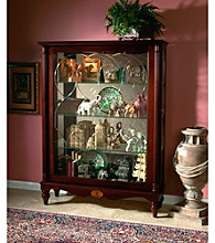 Pulaski Furniture Corporation® Cardigan Two-Way Sliding Door Mantel Curio Cabinet