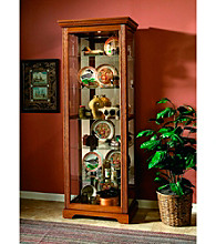 Pulaski Furniture Corporation® Two-Way Sliding Door Oak Finish Curio Cabinet