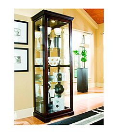 Pulaski Two-Way Sliding Door Chocolate Cherry Curio Cabinet