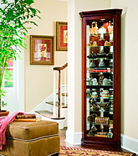 Pulaski Furniture Corporation® Cherry Corner Curio Cabinet