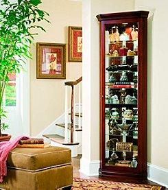 Pulaski® Cherry Corner Curio Cabinet