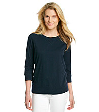 Jones New York Sport® Scoopneck Solid Raglan Pullover Top