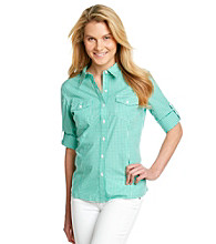 Jones New York Sport®Roll Sleeve Buttonfront Shirt
