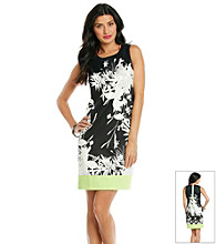 T Tahari® Sleeveless Scoopneck Floral Dress