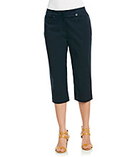 Briggs New York® Traditional Waistband Solid Cropped Pants