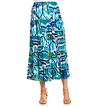 Notations® Stretch Waistband Multi Colored Tiered Gauze Skirt