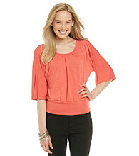 Notations® Dolman Sleeve Scoopneck Blouse