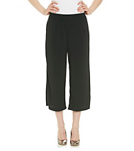 Notations® Stretch Waistband Solid Crop Pant