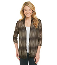 Notations® Open Front Can Can Cardigan