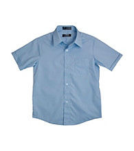 French Toast® Boys' 2T-20 Blue Short Sleeve Classic Dress Shirt