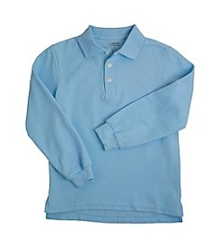 French Toast® Boys' 2T-20 Blue Long Sleeve Pique Polo