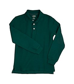 French Toast® Boys' 2T-20 Green Long Sleeve Pique Polo