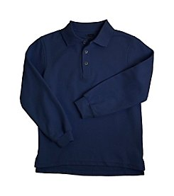 French Toast® Boys' 2T-20 Navy Long Sleeve Pique Polo