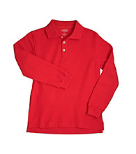 French Toast® Boys' 2T-20 Red Long Sleeve Pique Polo