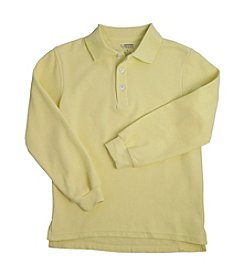 French Toast® Boys' 2T-20 Yellow Long Sleeve Pique Polo