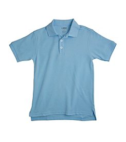 French Toast® Boys' 2T-20 Blue Short Sleeve Pique Polo